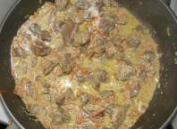 Вкусная тушеная печенка рецепт с пошаговым фото