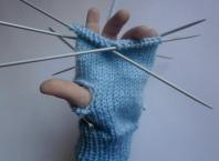 Як в язати рукавиці